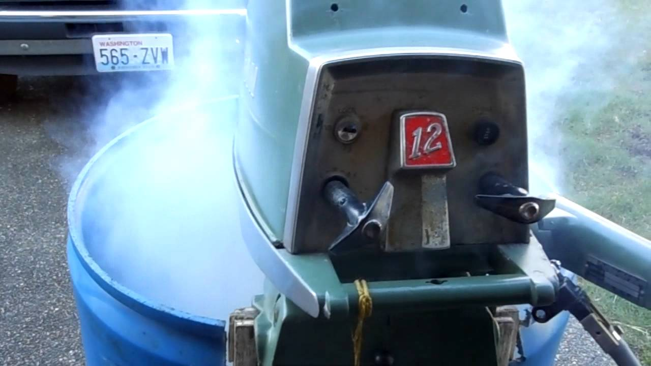 1957 Elgin 12 Hp Cold Start And Run Youtube