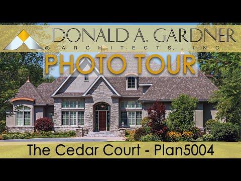 The cedar court luxury home plan 5004 youtube for Cedar house plans with photos