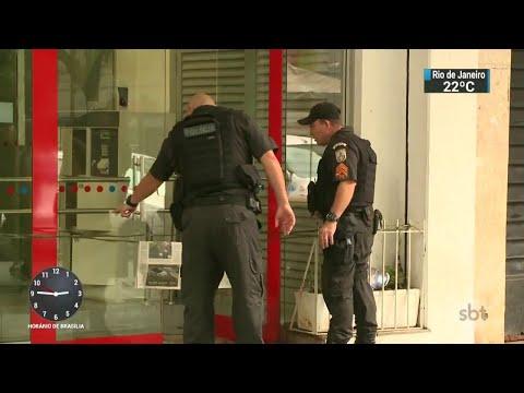 Policial do Bope é baleado em frente a banco no Rio de Janeiro | SBT Notícias (18/05/18)