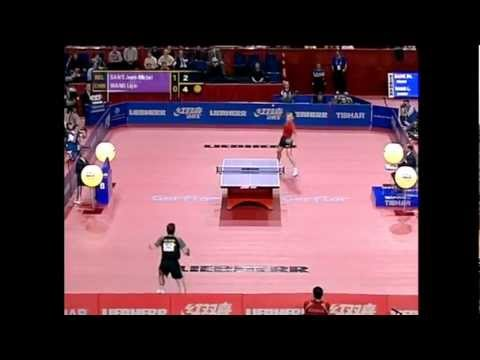 Fantastic point by Jean Michel Saive (against Wang Liqin)