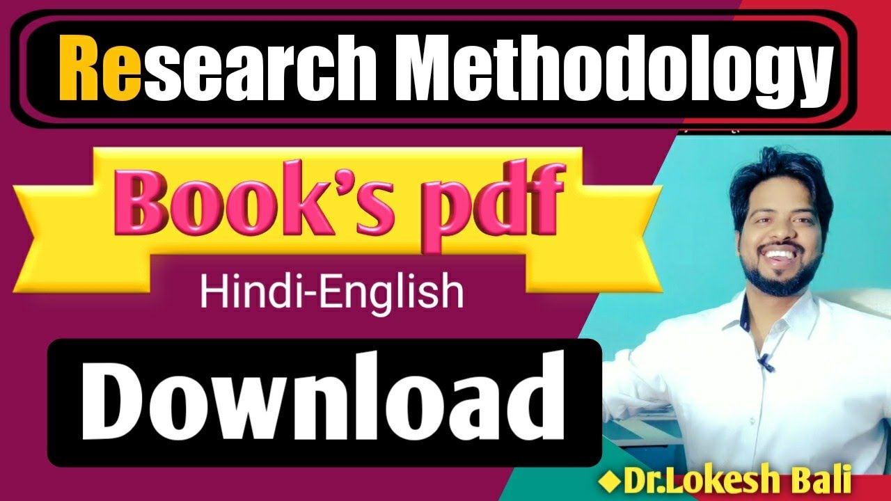Research Methodology Best Book PDF Download ||Hindi-English
