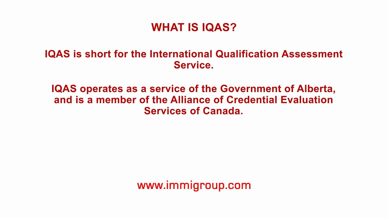What is IQAS?