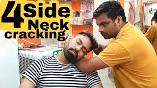 ASMR Head massage with four side neck cracking by Indianbarber