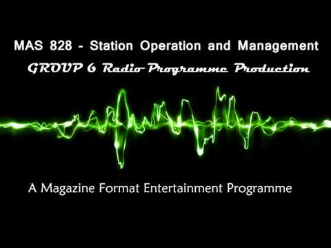 Radio Production - Magazine Programme
