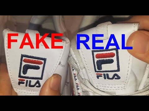Real Vs Fake Fila Disruptor 2. How To Spot Fake Fila