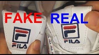 Real vs Fake Fila Disruptor 2. How to spot fake Fila disruptor II
