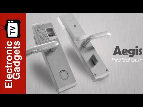 Premium Biometric Fingerprint Door Lock with Deadbolt - YouTube