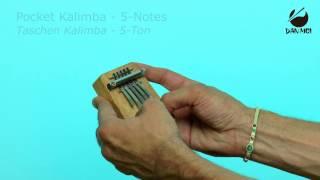 Hokema Pocket Kalimba - 5-Notes - The smallest Hokema Kalimba in F-minor