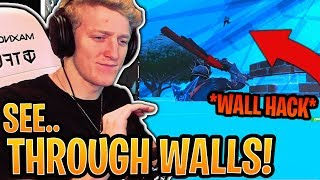 "Tfue Reacts to *NEW* ""See Through Walls"" Wall Hack EXPLOIT! - Fortnite Best and Funny Moments"