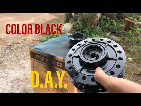 พ่นสีดุม | ทำสีดุมล้อรถใหม่!!! | ดุม�ดชทำเป็นสีดำเงา | ep3.�ารปั้น�ดช