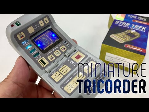 star-trek:-light-and-sound-tricorder-(miniature-editions)-with-book-review