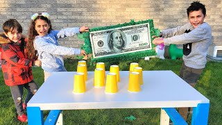 Guess The Right Cup Challenge game with HZHtube Kids Fun