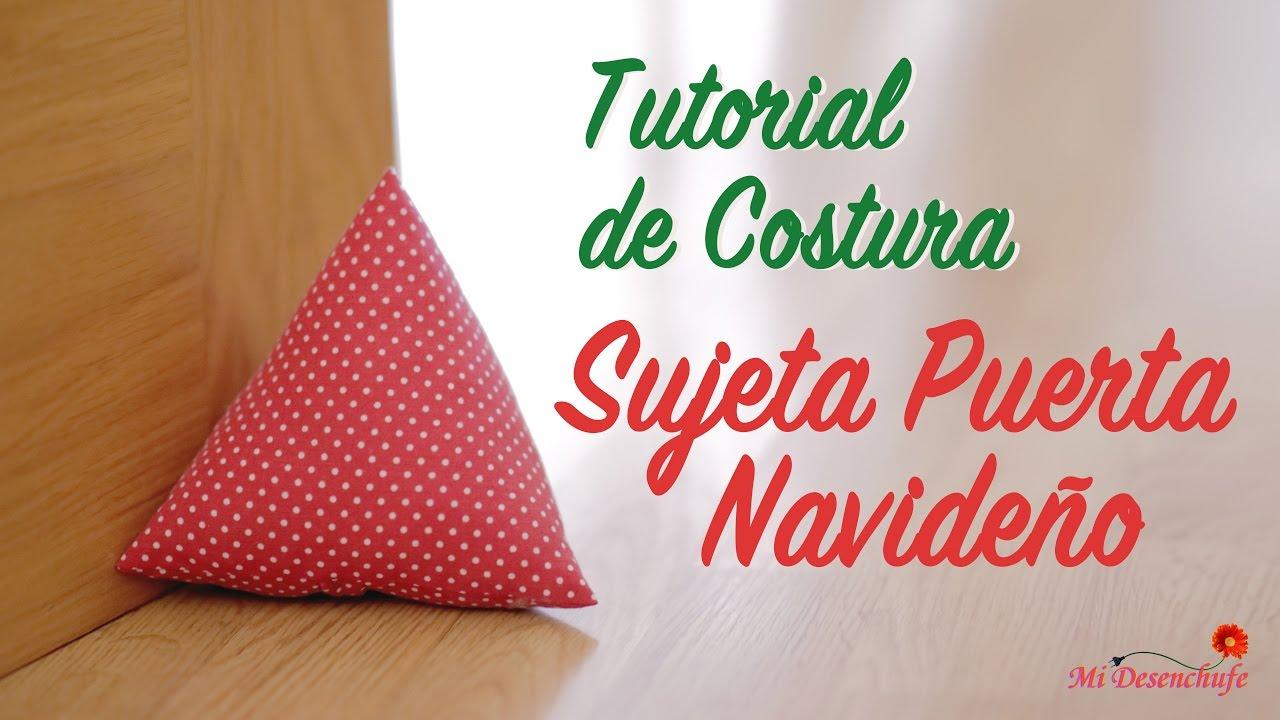 Tutorial de costura como hacer un sujeta puerta de tela for Sujeta puertas de tela
