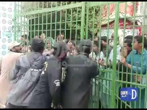 Protest at Lal Shahbaz Qalandar