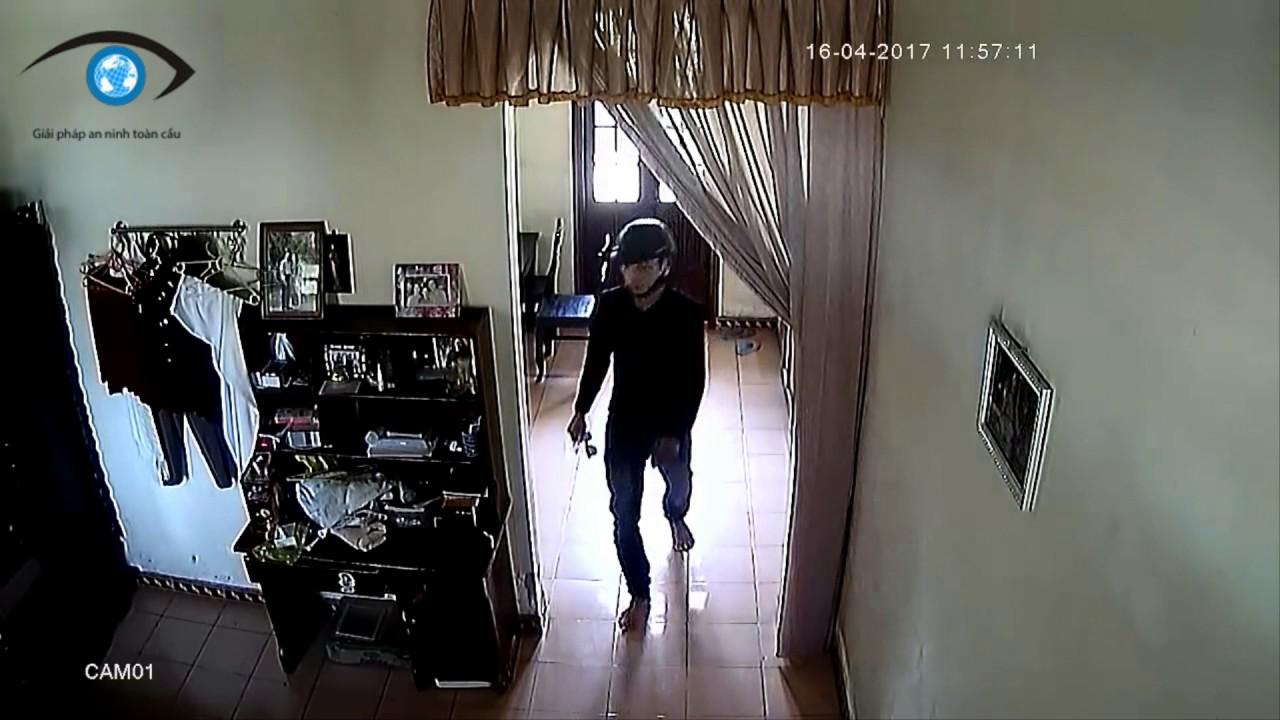 Camera quay rõ tên Trộm vào nhà tại Ninh Giang-Hải Dương Dương từ giây 25