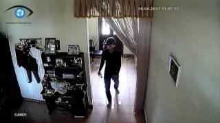 Ăn trộm đột nhập vào nhà bị Camera quay lại