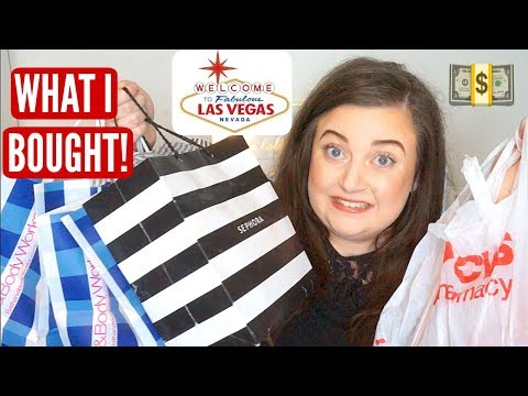 LAS VEGAS HAUL: What I Bought In America! CVS, SEPHORA, BATH AND BODY WORKS! | KayleighMC