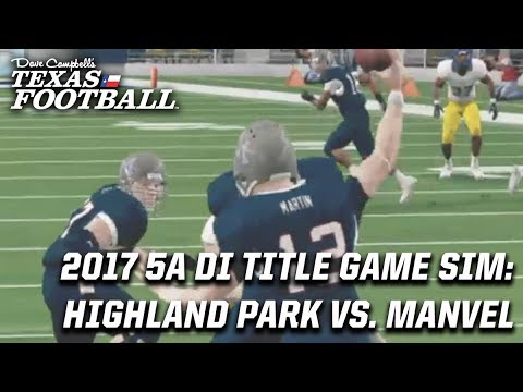 5A DI Title Game Simulation: Highland Park vs. Manvel