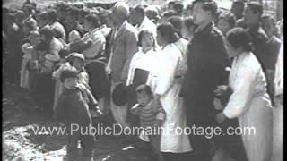 U.S. send goats and animals sent to farms in North Korean 1954 newsreel archival stock footage
