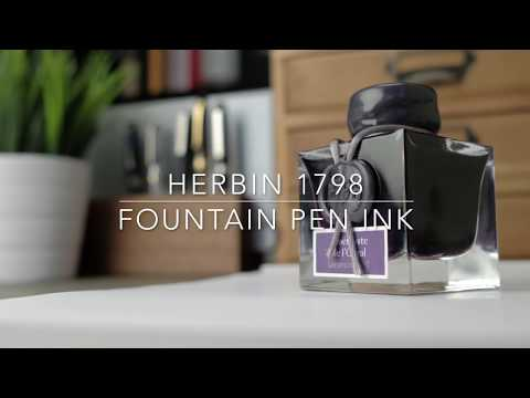 "Herbin ""1798"" Jacques Herbin Fountain Pen Ink: Amethyste de l'Oural"