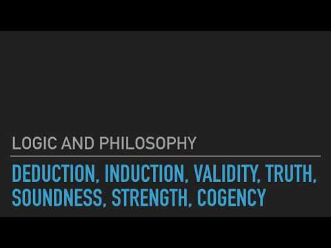 Logic and Philosophy 2.3: Deduction, Induction, Validity, Truth, Soundness, Strength, Cogency