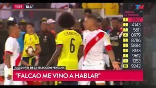 ¿Colombia y Perú arreglaron el empate adentro del campo?