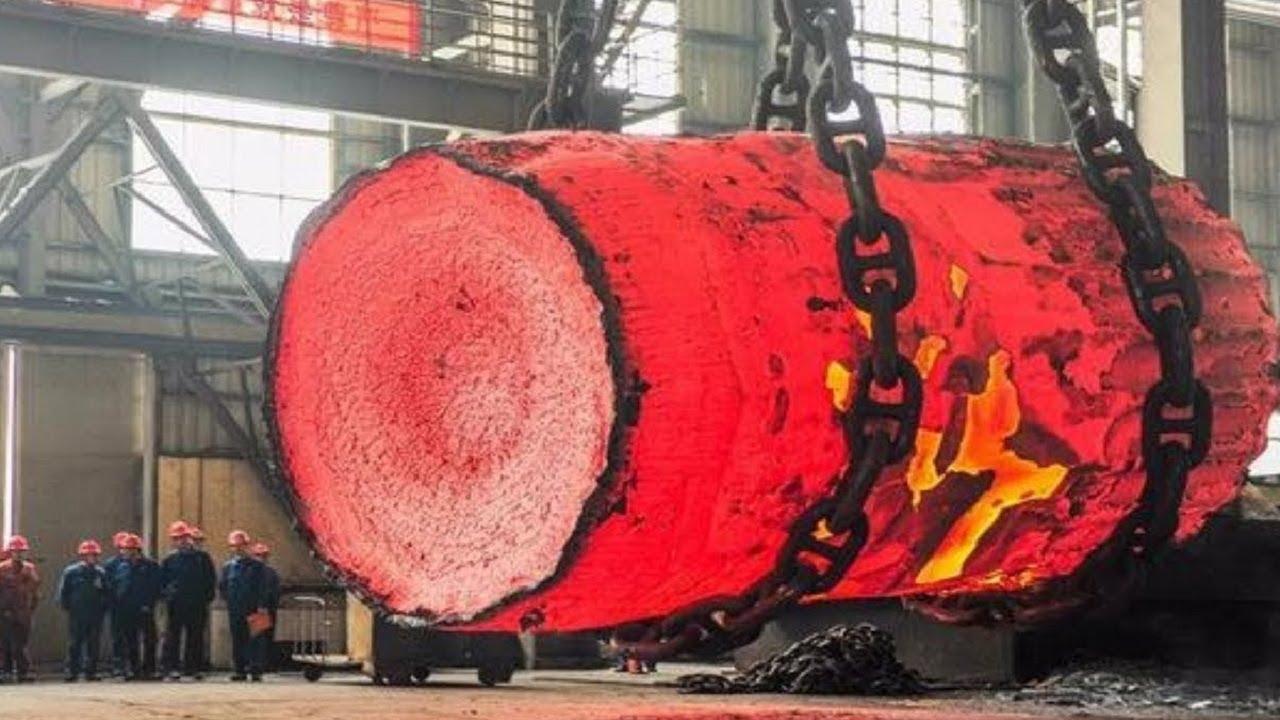 Dangerous Biggest Heavy Duty Hammer Forging Process, Fastest Hydraulic Steel  Forging Machine - YouTube