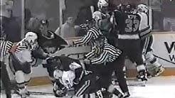 Los Angeles Kings vs San Jose Sharks Brawl 1997