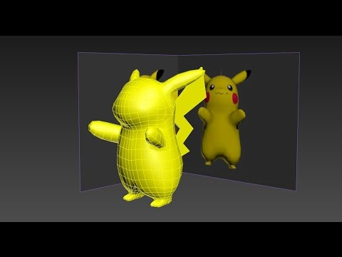 3ds Max Pokemon Pikachu Low Poly modeling Part 1