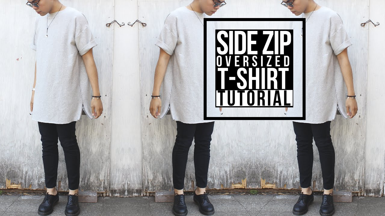 diy side zip oversized shirt youtube. Black Bedroom Furniture Sets. Home Design Ideas