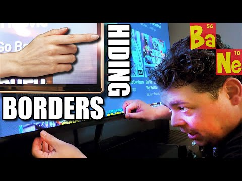 Home Theater Life Hack to Hide Your Screen Borders Quick & Easy DIY