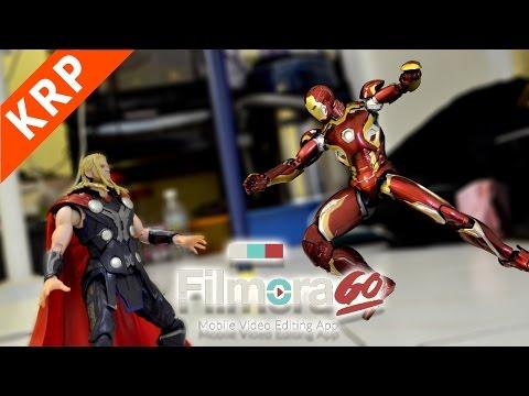 Ironman VS Thor Stop Motion | BEST VIDEO EDITING APP | FilmoraGo