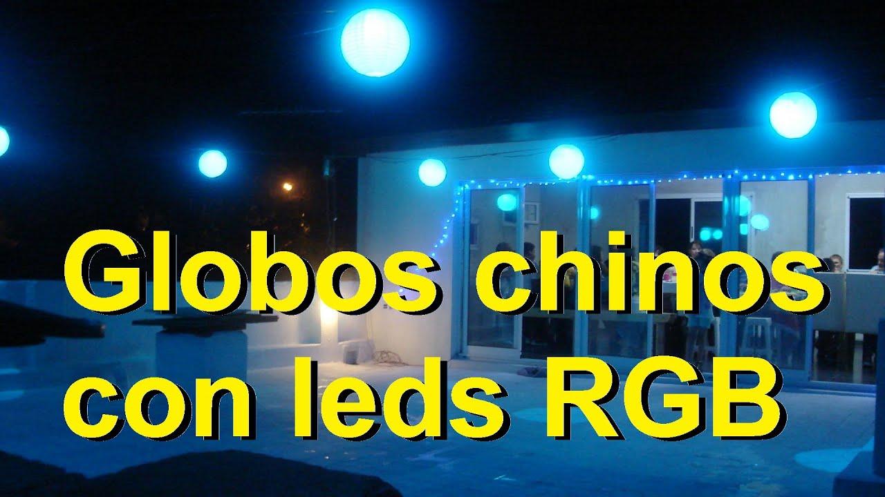 bolas con leds rgb decoracion para las fiestas parte