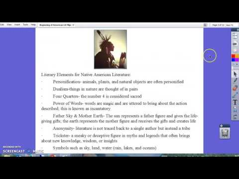 Native American Literature Background