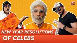New Year Resolutions of Celebs | Being Indian