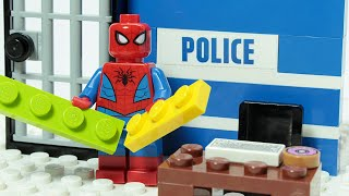 Download lagu Lego Spiderman Police Brick Building Superhero Animation