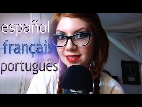 ASMR Language Test! | English, Spanish, French, Portuguese | Simple Phrases for Relaxation