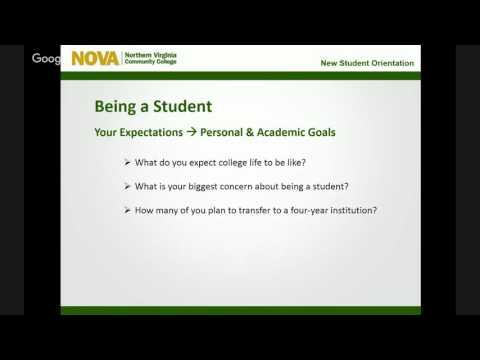 NOVA Alexandria Student Orientaiton
