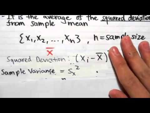 Sample Mean And Sample Variance  Youtube