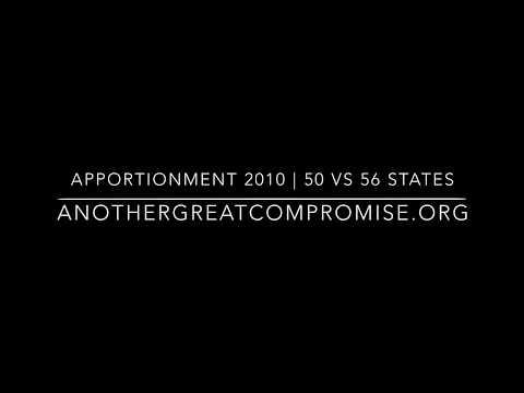 Apportionment   2010 Census   50 vs 56 State Comparison