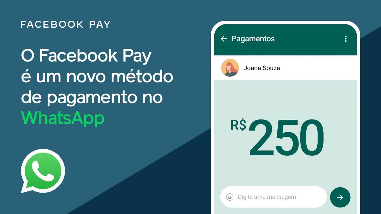 O Facebook Pay é um novo método de pagamento no WhatsApp