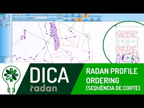 Dica 03 RD | Radan Profile Ordering (Sequência de corte)