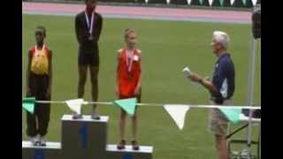 Northeast Youth Invitational - Icahn Stadium - Bantam Boys 100m - Adrian Taffe collecting his medal