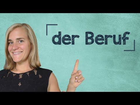 German Lesson (8) - Talking About Your Profession - A1