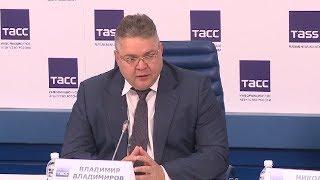 Смотреть видео Итоги пресс-конференции губернатора Владимира Владимирова в Москве онлайн