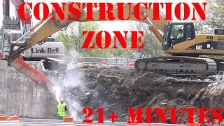 Trucks for Children - Construction Zone 14 - Giant Jackhammer and Digger