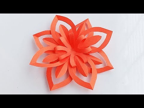 Paper Snowflake Tutorial \How to make an easy paper snowflake\PAPER FLOWERS.