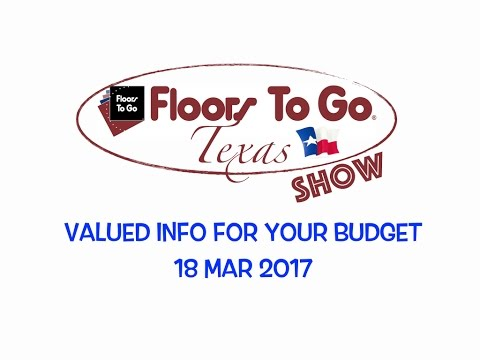 Valued Information on Products that Fit Your Budget - Floors To Go, Texas Show