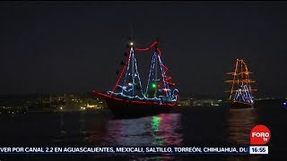 Desfile nautico navideño Televisa