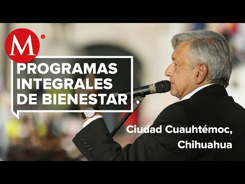 AMLO entrega Programas Integrales del Bienestar en Ciudad Cuauhtémoc, Chihuahua
